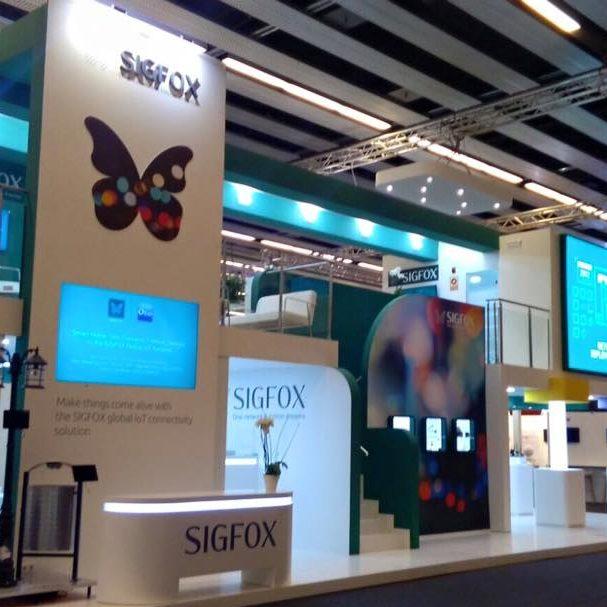 <span>Interiorismo</span>Stand SIGFOX para MWC
