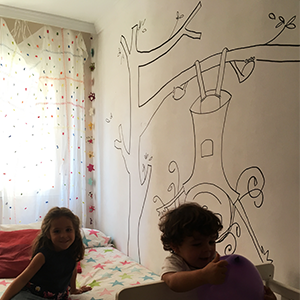 <span>Interior design</span>wall drawing for a children's room