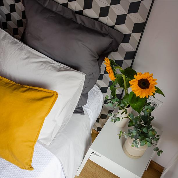 <span>Interiorismo</span>Dormitorio geométrico para sueños ordenados