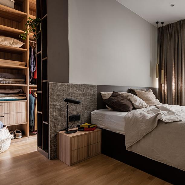 <span>Interiorismo</span>Dormitorio principal con vestidor molón