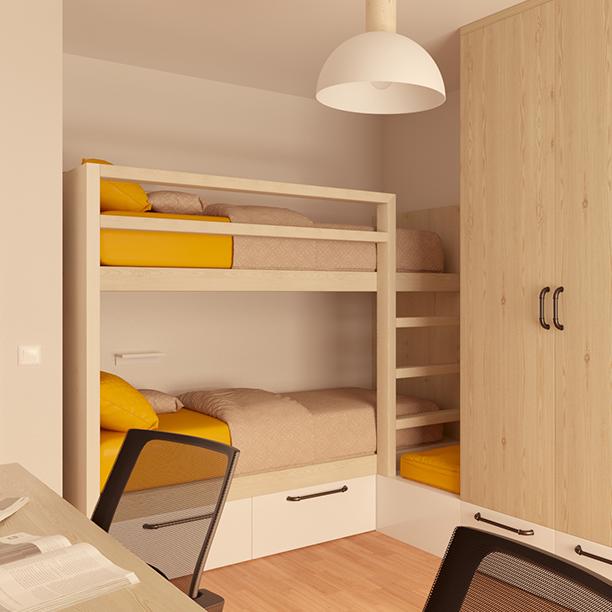 <span>Interiorismo</span>Dormitorio infantil con litera